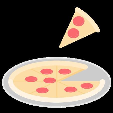 1 pizza mediana